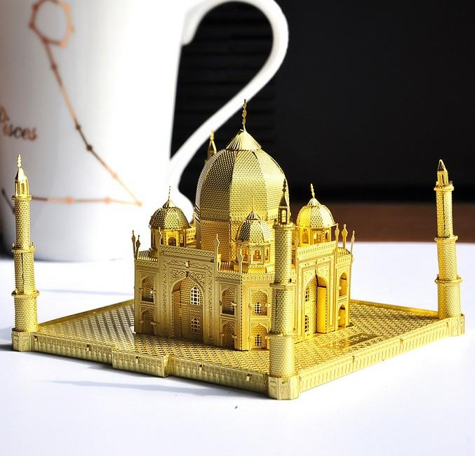 3D Puzzle Gold Metal Building India Taj Mahal