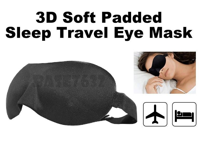 3D Soft Face Padded Fully Insulated Breathable Eye Sleep Sleeping Mask