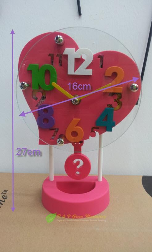 3D Table Clock Heart Clock Elegant Design Silence Swing MHT-398