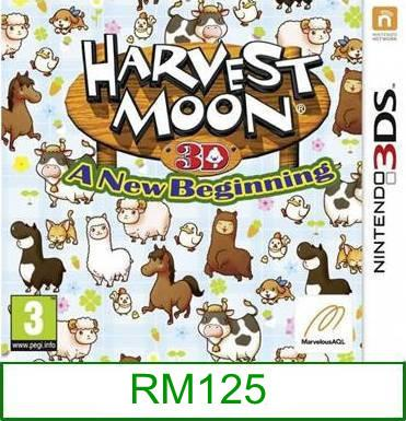 3Ds Harvest Moon 3D A New Beginning [US/Asia] ★Brand New & Seale..