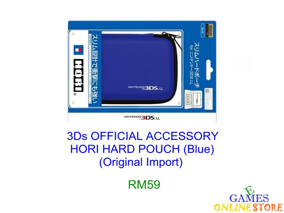 3Ds HORI Hard Pouch (Blue) ★Brand New & Sealed★