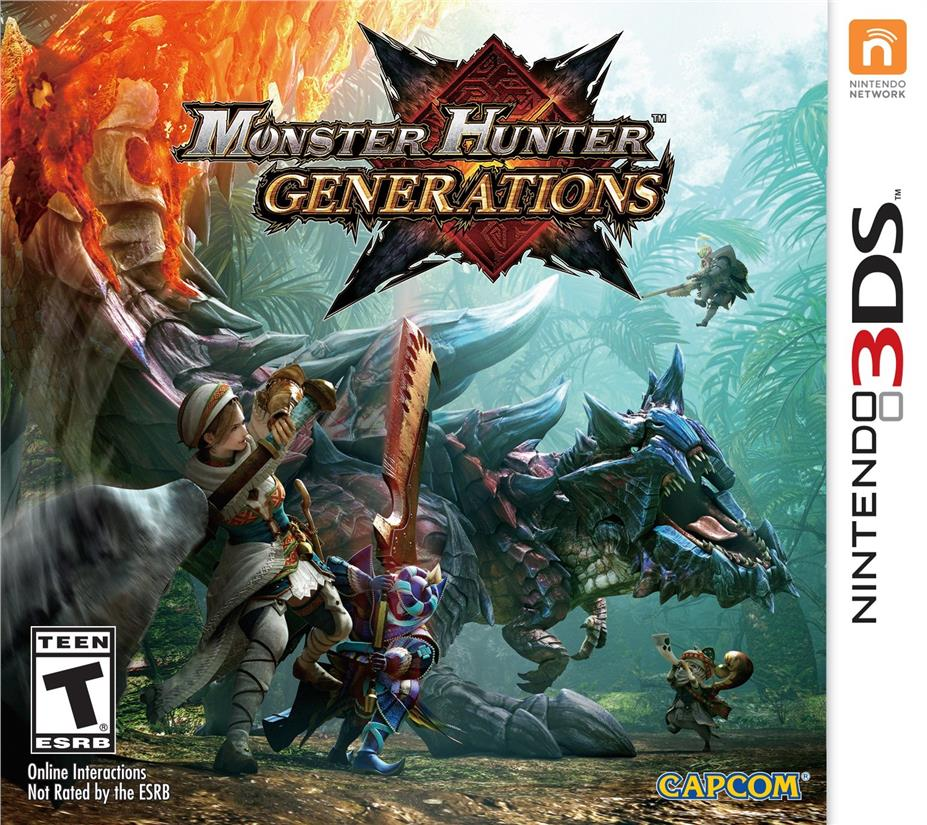 3DS MONSTER HUNTER GENERATIONS GAME for NINTENDO 3DS