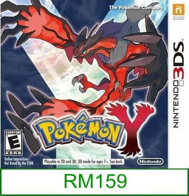 3Ds Pokemon Y [US/Asia] ★Brand New & Sealed★
