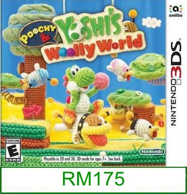 3Ds Poochy & Yoshi's Woolly World [US/Asia] ★Brand New & Sealed&..