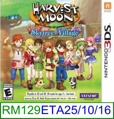 3Ds PREORDER Harvest Moon Skytree Village [US/Asia] ★Brand New &..