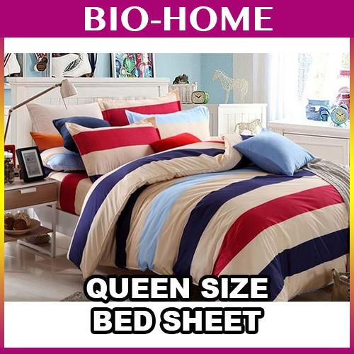 3In1 Queen Size Bed Sheet BEDSHEET BLANKET SET LINEN PILLOW MATTRESS G