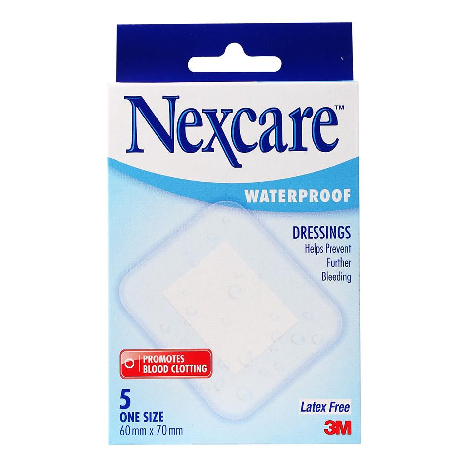 3M Nexcare Waterproof Dressing 60mm x 70mm 5pcs