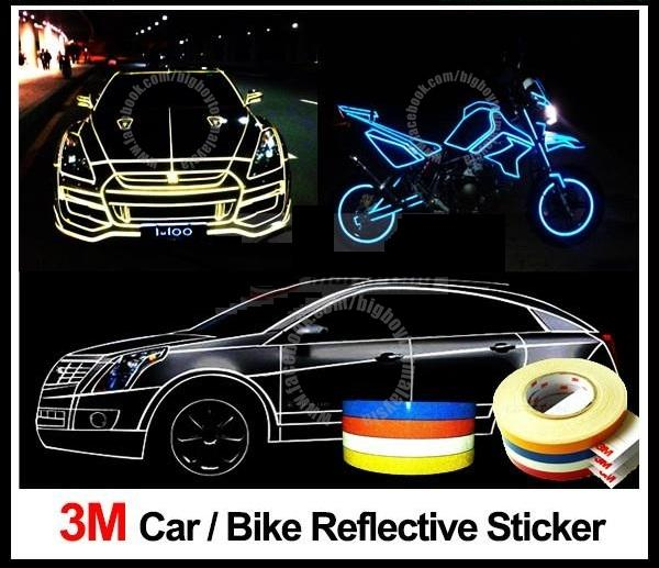 3M Safety Reflective Strip For Car / Motorcycle (1cm wide)