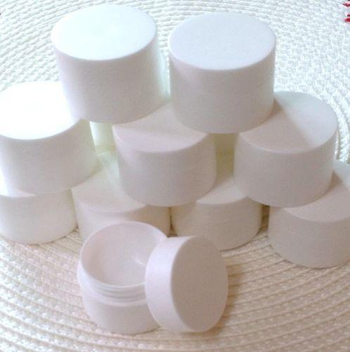 3ml/3mg White Empty Cosmetic Sample Containers - 50 in a pack