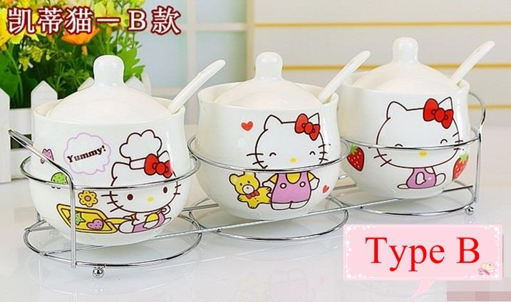 3pcs HK Ceramic Seasoning Canister (D2)