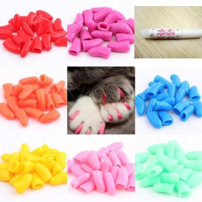 3pcs Pet Beauty Dog Cat Claws Paws Nail Cover Dedicated Glue