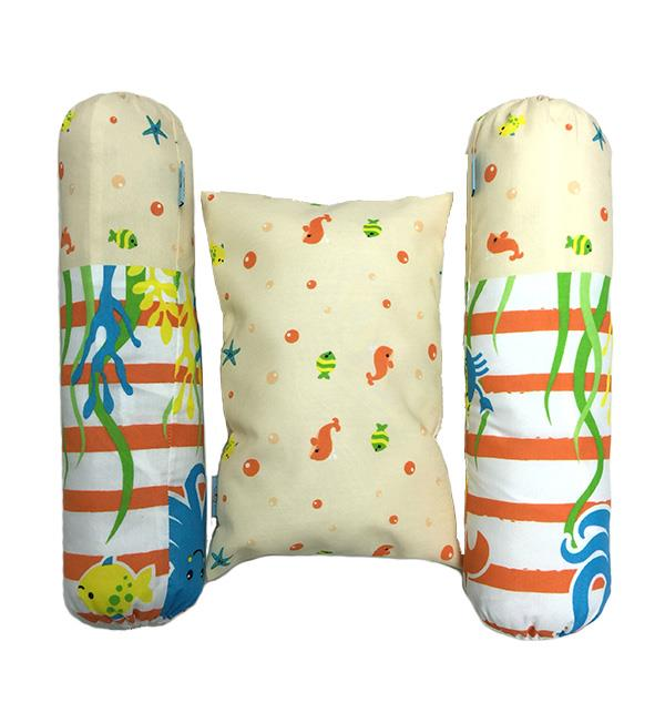 3PCS PILLOW & BOLSTER SET