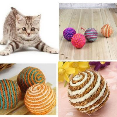 "3PCS Set 1.95"" Pet Cat Kitten Funny Toy Teaser Playing Rattling Sound"