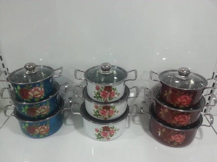 3pcs Soup Pot With Glass Lid