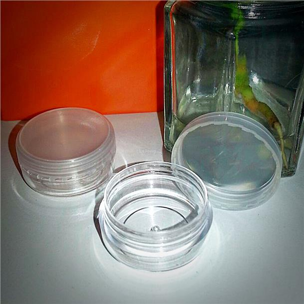 3pcs x 3g Cosmetic Empty Jar Pot free 1pc Mask Stick Mixer