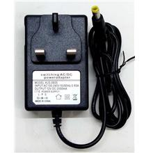 3pin Wall AC Power Adapter Charger DC 12V 2A with LED