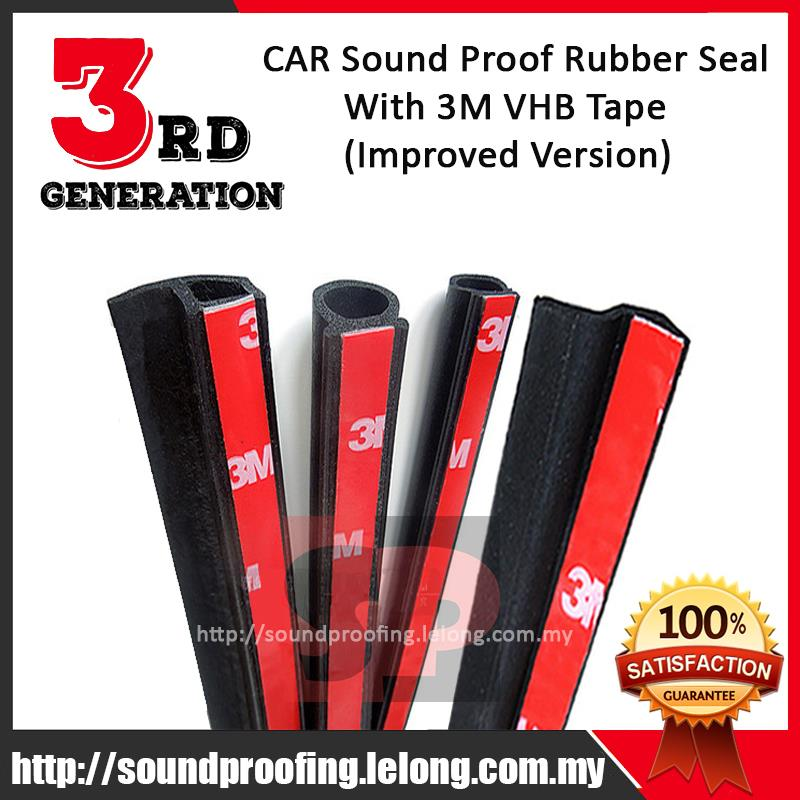 3rd Generation 3M VHB CAR Sound Proof Rubber Seal (Improved Version)