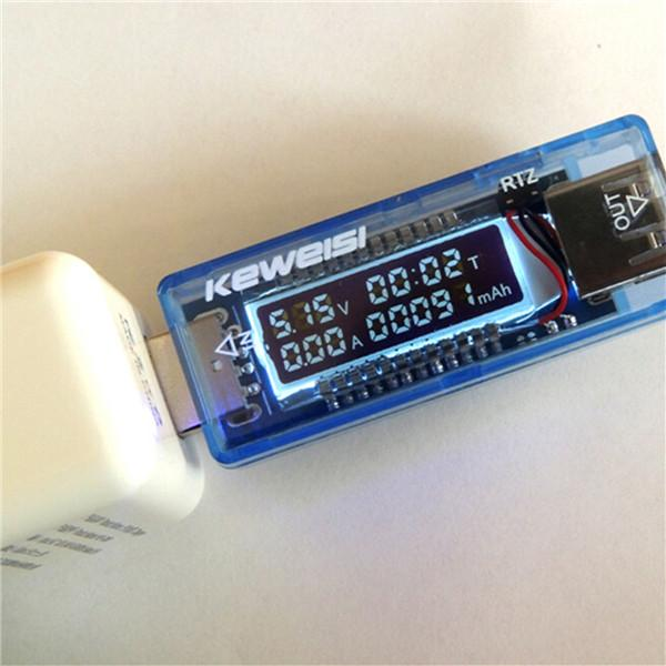 3V-9V 0-3A USB Charger Power Detector Battery Capacity Tester Voltage