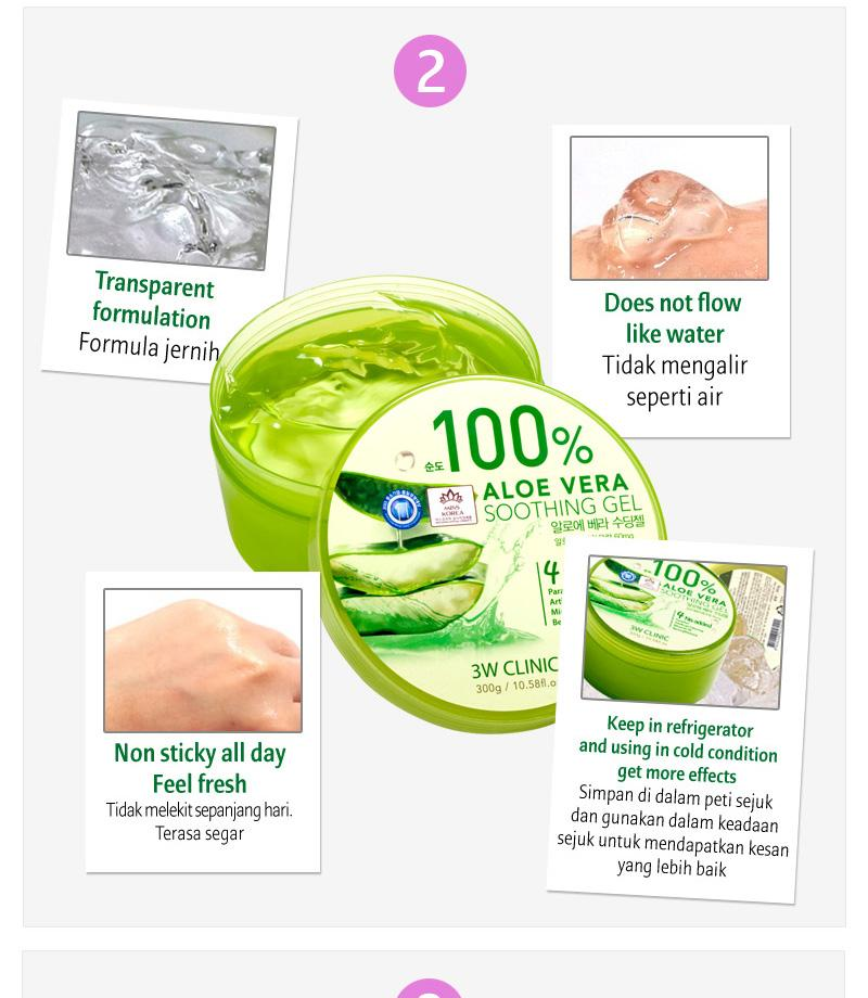 3W Clinic 100% Aloe Vera Soothing Gel ( BUY 2 FREE 1 )