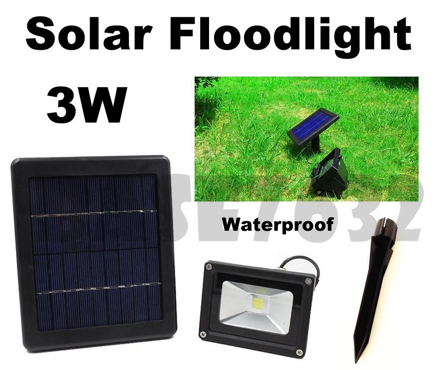 3w LED  Waterproof Solar Floodlight Spotlight Flood Light Garden Lamp