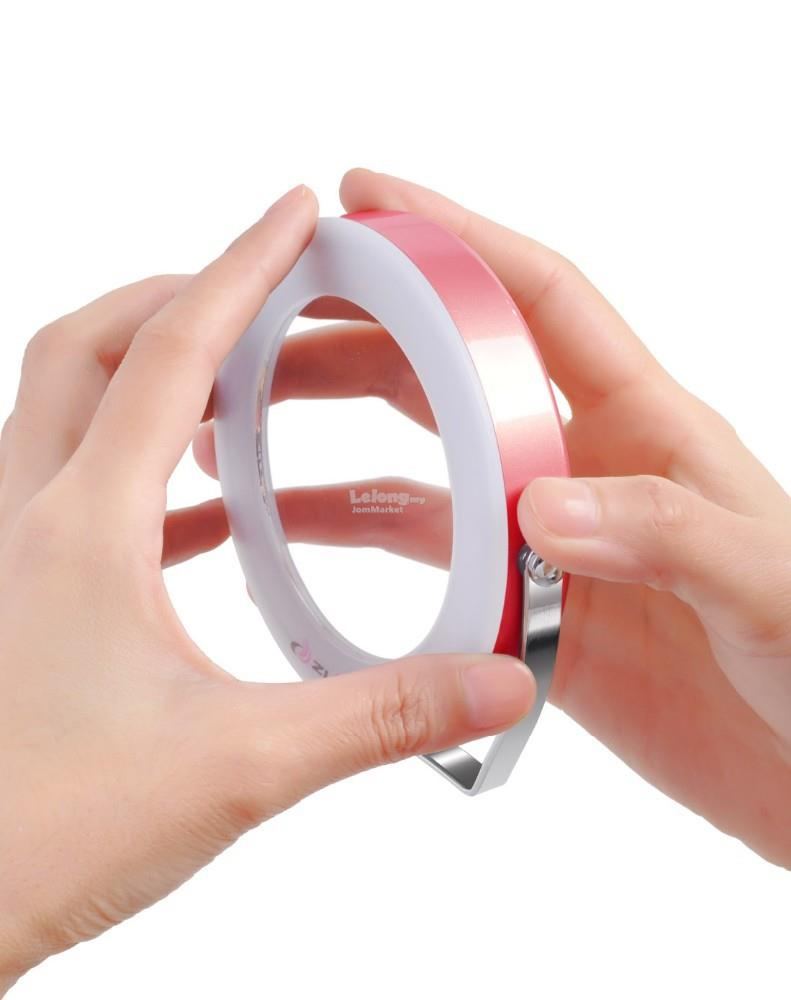 3x Magnifying LED Make-Up Mirror (Pink)
