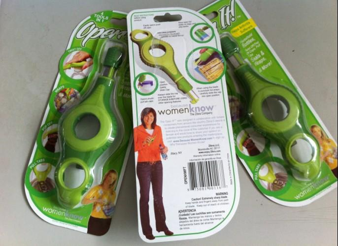 4 in 1 Creative Non-slip Bottle Jar Opener Kitchen Helper Open it