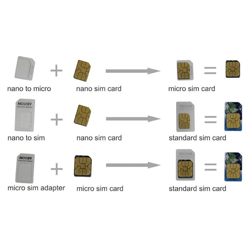4 IN 1 UNIVERSAL NANO MICRO SIM CARD ADAPTER