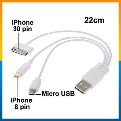 4 in 1 USB Cable 8pin,30pin,micro 5pin cable for Apple & Android