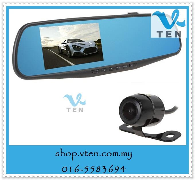 4.3 Inch Full HD1080P 170 Degrees Rearview Car Video Recorder