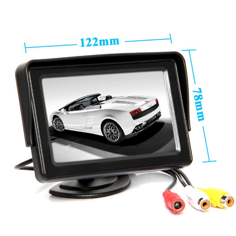 4.3 Inch LED TFT Rearview Monitor Cars Rear View System For Car Backup