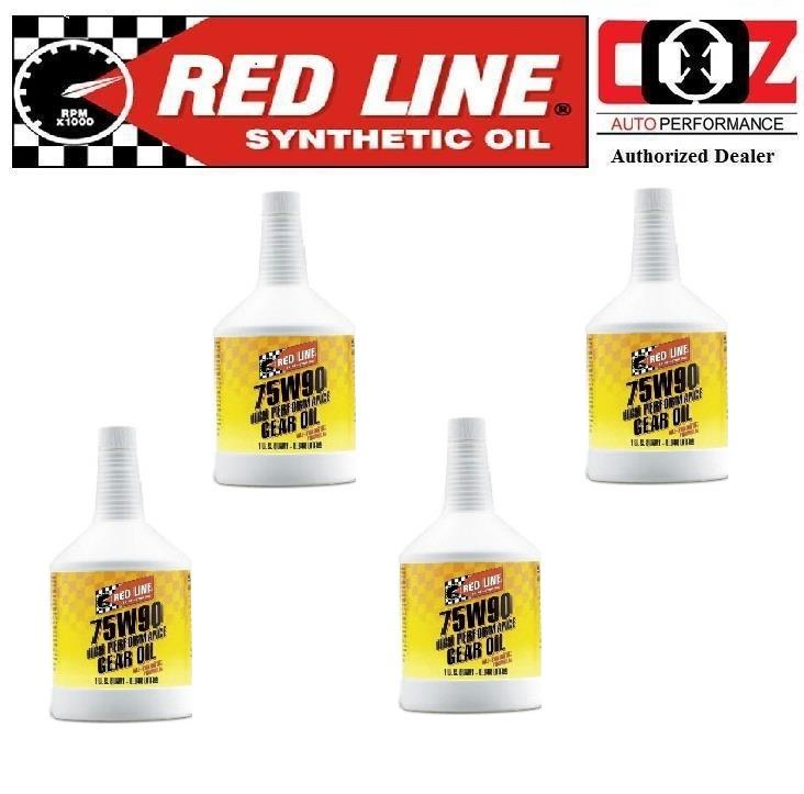 4 (BTL) RED LINE 75W90 GL-5 LSD GEAR OIL WITH FRICTION MODIFIERS