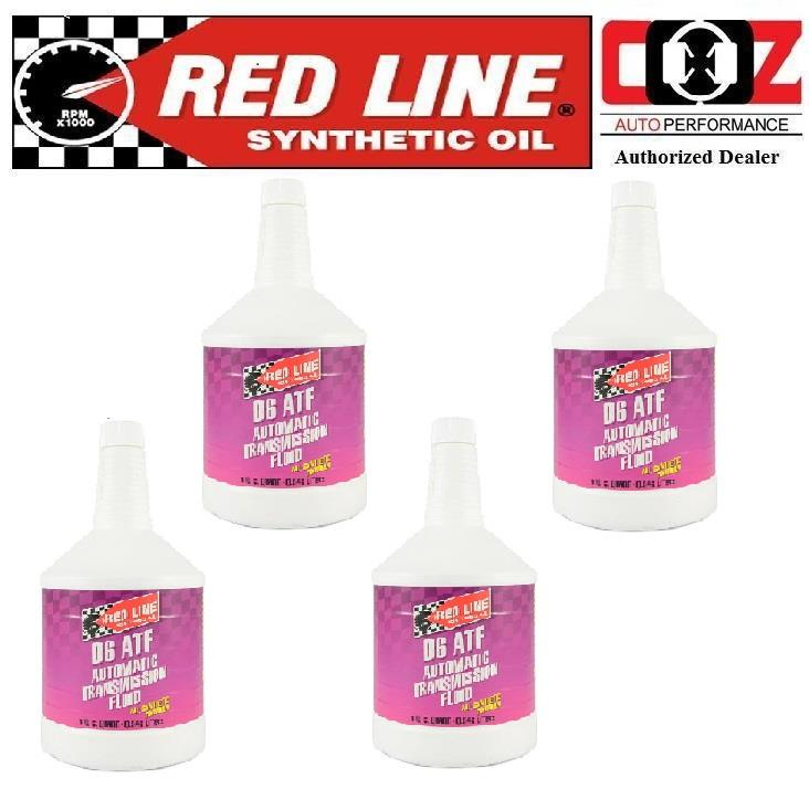 4 (BTL) RED LINE GEAR OIL D6 ATF AUTOMATIC TRANSMISSION FLUIDS REDLINE