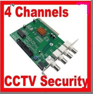 4 CH DVR Card Channels CCTV System