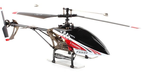 4 CHANNEL FX037 CARBON SINGLE BLADE RC helicopter (end 5/23/2016 ...