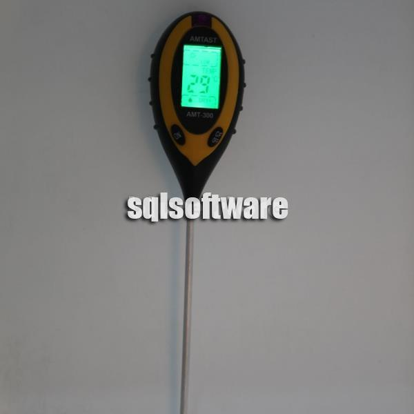 4 in1 LCD Temperature Sunlight Moisture PH Garden Soil Tester