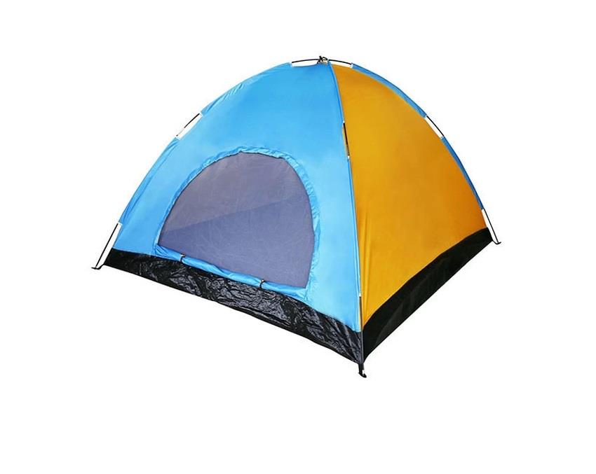 4 Person Camping Tent With Window and Carry Bag Blue
