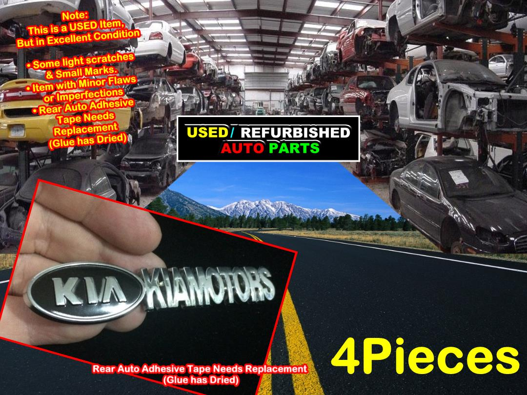 4 Pieces Used Refurbished 4X4 4Wd Big Size Chrome Badge Emblem  TDP-D