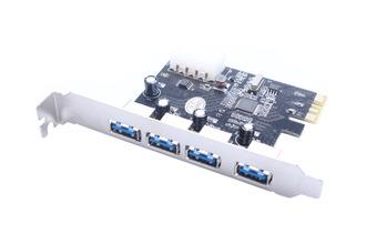 4-Port Super Speed USB 3.0 PCI-E PCI Express Card, PC70