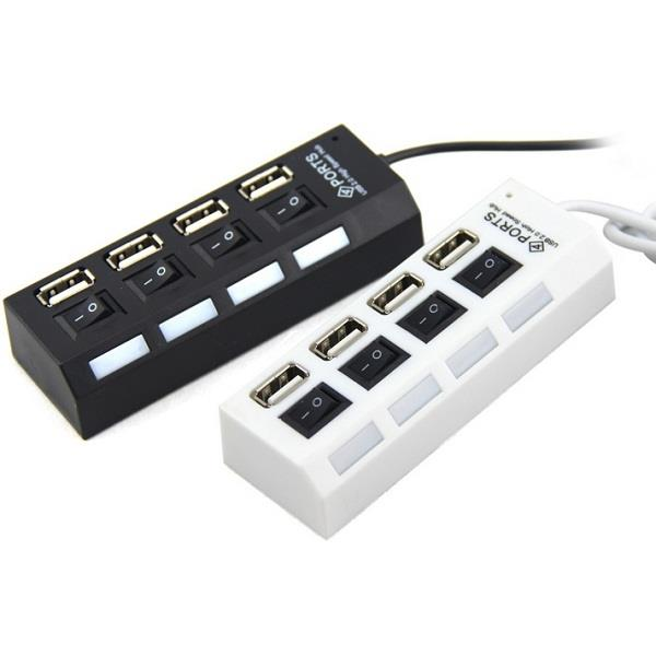 4 Port USB 2.0 High Speed HUB ON/OFF Sharing Switch
