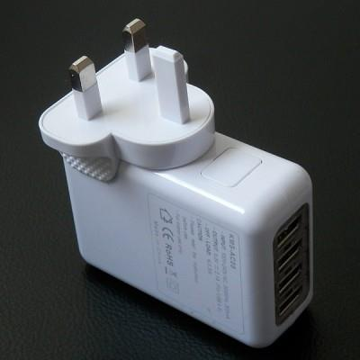 4 USB Port Charger Wall Adapter