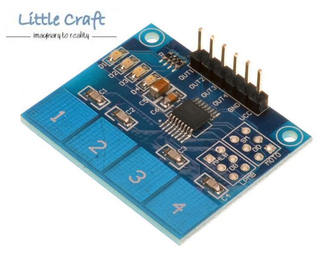 4 Ways Capacitive Touch Keypad for Arduino, Robotic, Respberry