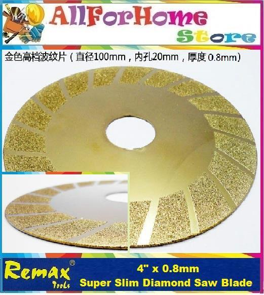 4' x 0.8mm REMAX Super Slim Diamond Saw Blade