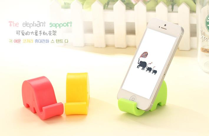 4 x Elephant Mobile Phone Holder Stand iphone ipad Samsung Xiaomi