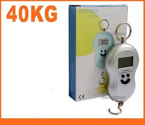 40Kg LCD Digital Electronic Luggage, Fishing, Parcel Hook Type Scale