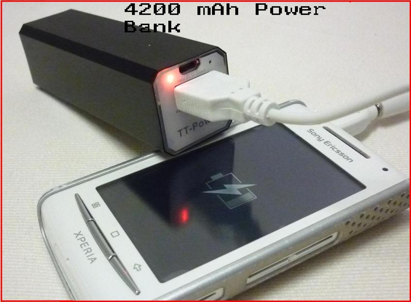 4200mAh Battery Charger Power Bank for iPhone 5,iPod,MP3/4,Samsung Gal