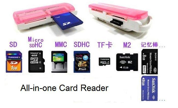 43 in 1  All in Multislot USB Memory Card reader SD.Micro SD.MMC.SDHC.