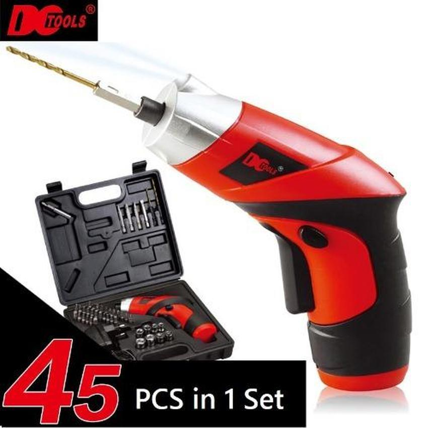45 Pcs in 1 S023 Transformable Cordless Electric Screwdriver Drill RED