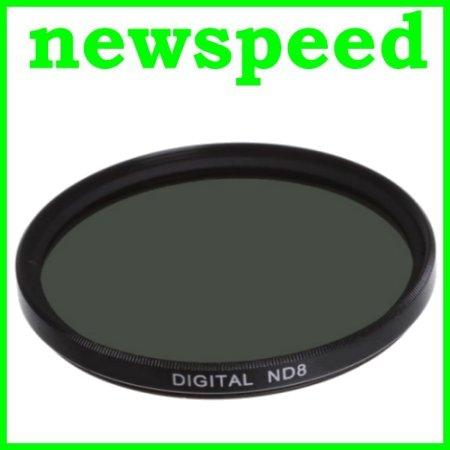 New 49mm ND8 Neutral Density Lens Filter / 3 f-stop