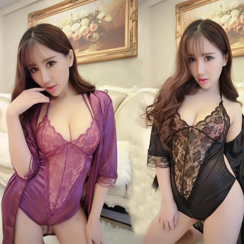 4Colours Corset Robe Sexy Nightdress Lingerie Sleepwear MC212