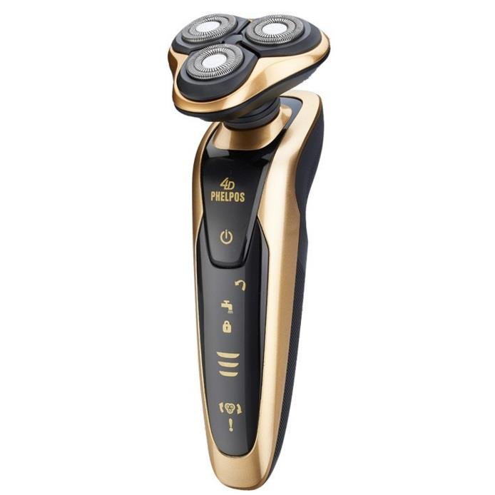 4D Waterproof Men Shaver Phelops Cordless Three Head Chargeable Shaver